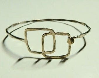 Sterling silver thin cuff bracelet, adjustable, no hallmark