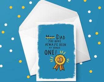 Dad is number one   Daddy   Fathers Day