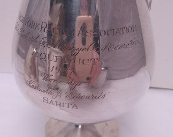 Sterling Silver Brandy Snifter Racing Trophy Cup by Currier & Roby