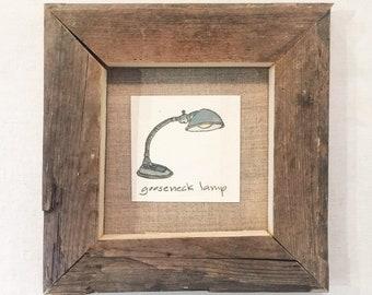 diminutive doodle: gooseneck lamp