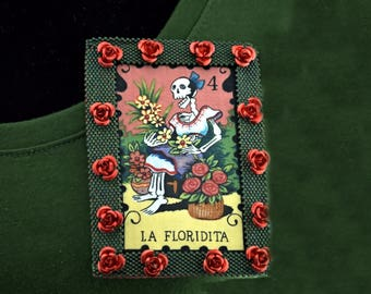 "Day of the Dead "" La Floridita"" Brooch"
