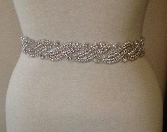 Bridal belt wedding belt bridal sash wedding sash crystal sash crystal belt wedding dress rhinestone sash satin ribbon belt