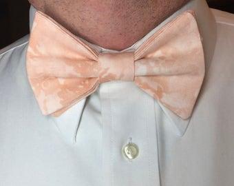 Peach Bow Tie, Mens Bow Tie, Peach Father Son, Blush Pink Bow Tie, Blush Peach Bow Tie, Ring Bearer Bow Tie, Boys Bow Tie, Kids Bow Tie