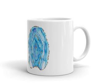 Blue Geode Mug