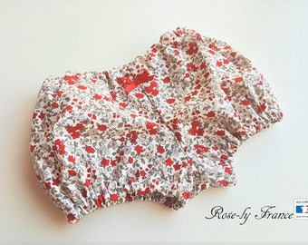 Bloomer bebeen liberty cotton red and white