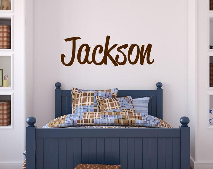 Custom Boy Name Wall Decal // Baby Boy Nursery Wall Decor // Boys Room Decor // Customized Name Decal // Childrens Wall Decor // Name Sign