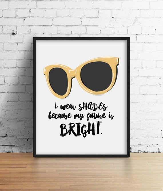 Glasses Quotes: Items Similar To Sunglasses Poster, Summer Print, Sassy