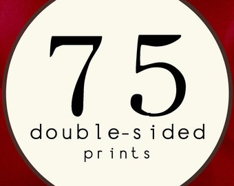 75 PRINTS - DOUBLE SIDED Printed Invitations Cards - 91892357