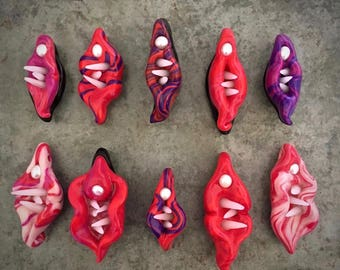 No Means No! Nasty Woman Vagina Dentata Pendants | Feminist Wearable Art Statement  Jewelry | Made in Melbourne | Australian Seller