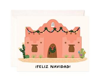 Christmas Card: Handmade Southwest Christmas Greeting Card