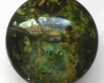 Custom made One of a Kind Furniture and Cabinet Knob-Faux granite/stone-Mossy green/olive tones