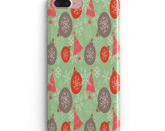 Green Tree Apple Iphone 6 6s Case plus 7 plus  iphone X 10 8 black accessories Holiday season Christmas