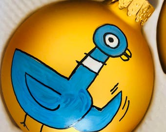 Pigeon Mo Willems Christmas Ornament
