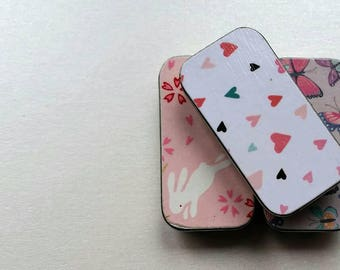Trio of mini keepers. . . Few of my favorite things. Bunny, hearts, and butterflies.