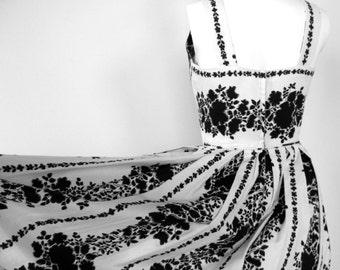 Vintage 1950's Dress Halter Cotten by Vago