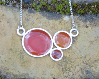 hot oranges bubble pendant