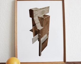 Woodhouse 2 - A3 print.