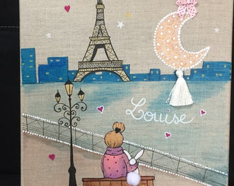 Paris love kids room painting