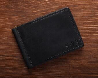 Leather Wallet, 5 Minimalist Billfold Wallet, Distressed Leather Wallet, Minimalist Classic Billfold , Groomsmen Gifts, Can be Personalized