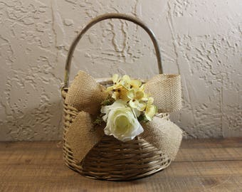 Wedding Flower Girl Basket /  Flower Girl Basket / Flower Girl Basket /