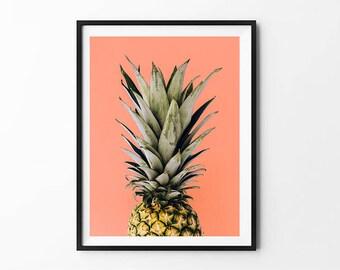 Dorm Decor, Pineapple Prints, Pineapple Art, Pineapple Poster, Pineapple Photo, Pineapple Decor, Pineapple Print, Pineapple Illustration