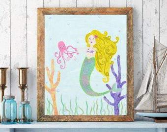 Mermaid Themed Room | Etsy