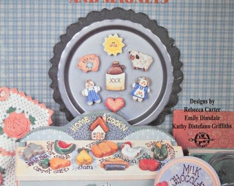 Little Whittles Kitchen Decor and Magnets Decorative Painting Book by Provo Craft, Vintage 1995 Refrigerator Magnets Patterns