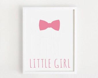 baby girl nursery art INSTANT DOWNLOAD Little girl printable Wall art Pink Cute baby wall decor poster Kawaii baby room Decor print Digital