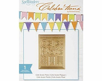 Spellbinders Celebra'tions Series Detailed Cutting Die by Richard Garay SCD-015 ~Celebrate Plate~ Cut•Emboss•Stencil