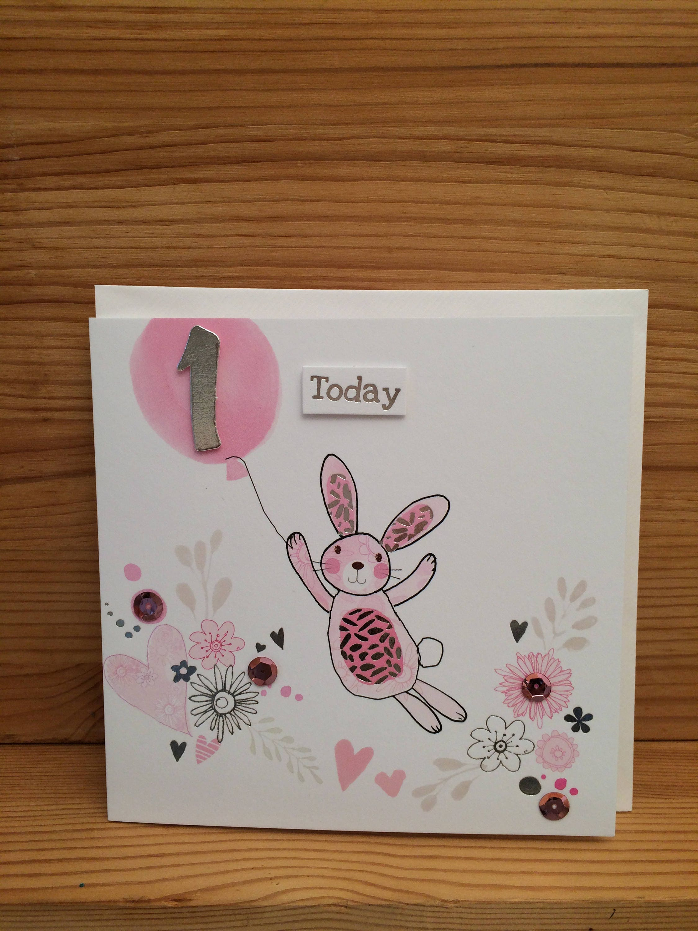 Happy first birthday greeting card baby cardbaby girl description happy first birthday greeting card baby cardbaby girl kristyandbryce Gallery