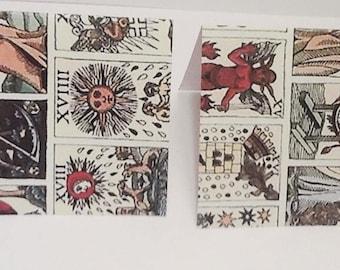 9 Tarot Cards Mini Note Cards Set 1