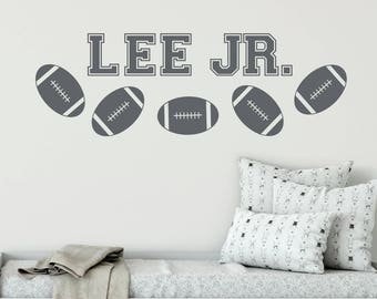 Sports decals, Football decals, Name wall decals, Sports nursery decor, Football room decor, Sports room decor, Boys room decor DB144