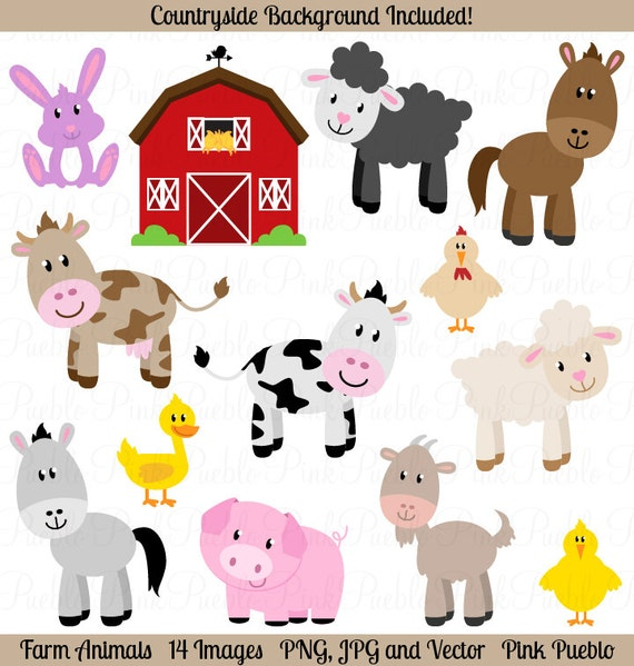farm animals clipart farm animals clip art barnyard clipart rh etsystudio com farm animals clipart sheep free farm animals clipart