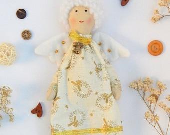 Christmas angel Tilda angel Organic soft doll Fabric angel doll Tilda handmade Tilda doll Angel cloth doll Organic cotton doll Rag doll
