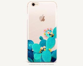 iPhone 8 Case iPhone X Case iPhone 7 Case Cacti Bloom Clear GRIP Rubber Case iPhone 7 Plus Clear Case iPhone SE Case Samsung S8 Case U97