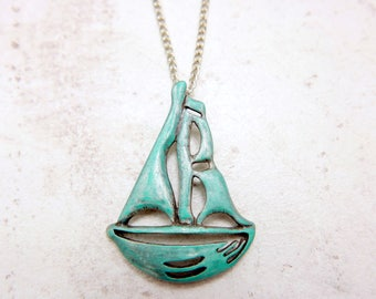 Sailing boat Necklace, Sailing boat jewelry