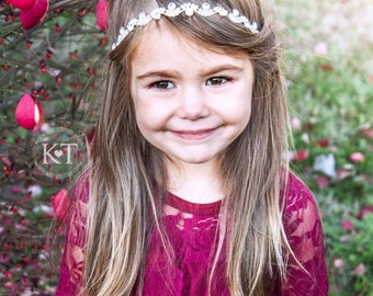Ready to Ship- Mila Rhinestone Headband- Girl, toddler, child, flower girl, wedding, bridesmaid, bride, bridal, silver