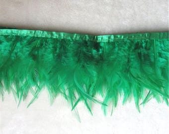 "Green Feather Fringe Trim 4.5"" (GB537-gn)"
