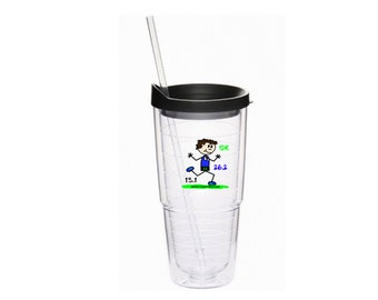 On Sale, Gift for Dad who Runs, Runner's Doubled Walled Tumbler, Gift for Runners, 26.2 Tumbler, Drinking Glass for Runners, Male Runner