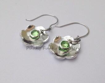 Birthstone flower earrings - birthstone earrings - birthstone jewellery - birthday earrings - birthstone crystal - birthday gift for her