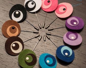 Modern Art Lapel Pins, Mens Lapel Pin,