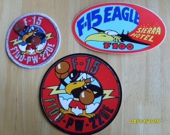 Pratt Whitney Aircraft Patches, Fabric Patches, F-100 Stickers, Military Stickers, Military Patches