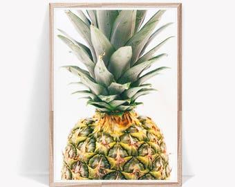 Pineapple Print,Pineapple Poster,Pineapple,Large Pineapple Art,Tropical Photo Print,Kitchen Decor,Pineapple Decor,Pineapple Modern Art,Fruit