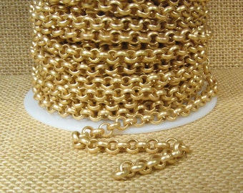 3ft 5.7mm Rolo Chain - Matte Gold - 5.7mm Links - CH81