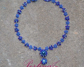 Stars Necklace with Pearly Pendant