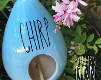 Rae Dunn Inspired Vinyl Decal Chirp or Fly, Rae Dunn Birdhouse Vinyl Decal, Rae Dunn Birdhouse, Rae Dunn Decals, Rae Dunn Vinyl