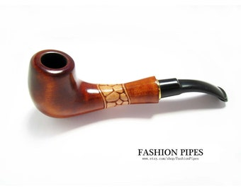 Wooden Pipe, Tobacco pipe, Smoking Pipes/pipe, Fashion Retro Pipe & Pouch, HANDCRAFTED Wooden, wood pipe Limited Edition
