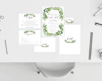 Wedding Package // Leaf Wreath