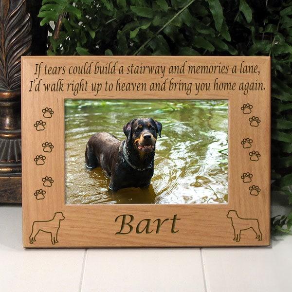 Rottweiler If Tears Poem Dog Memorial Frame