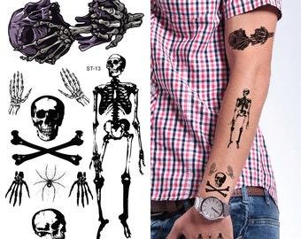Supperb® Temporary Tattoos - Skull Halloween Tattoo